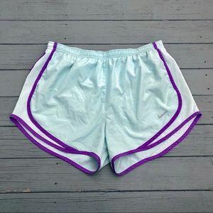 Nike Dri Fit pastel blue contrast athletic shortsM